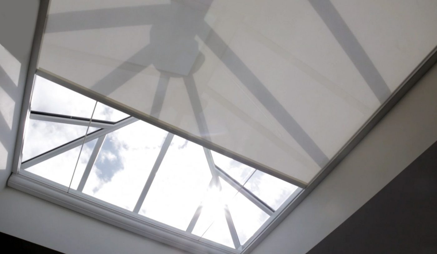 Electric roof lantern and skylight blinds the electric for Motorized blinds for skylights