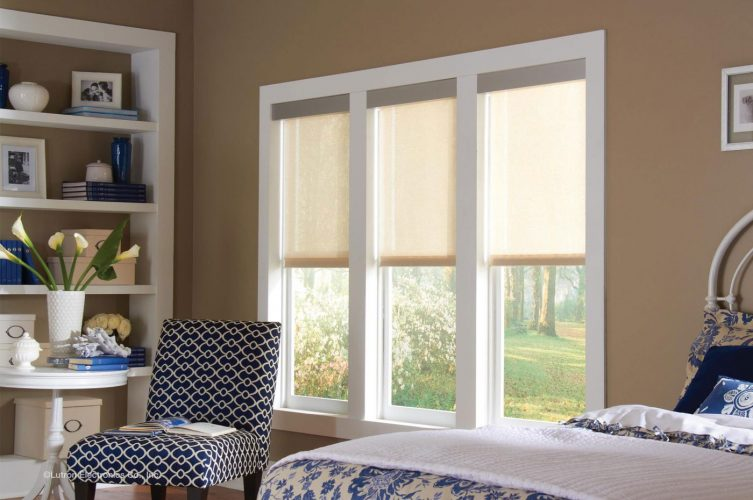 Lutron Solar Protection Electric Roller Blind - The Electric Blind Company