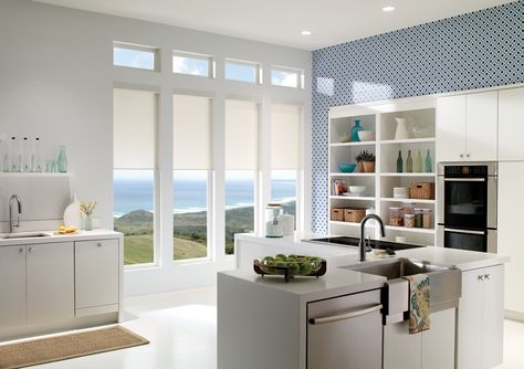 Qmotion Electric Roller Blinds For Kitchen - The Electric Blind Company