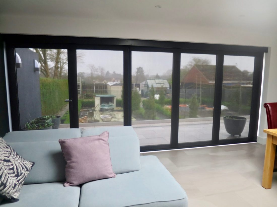 Lutron Electric Blinds for Bi Fold Doors - Fitted in Winchester - The Electric Blind Company : electric doors - pezcame.com