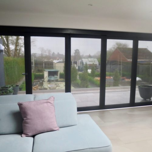 Lutron Electric Blinds for Bi Fold Doors - Fitted in Winchester - The Electric Blind Company