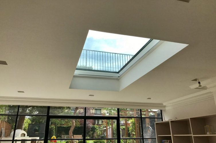 Electric roof Lantern Blind Fitted in South London by The Electric Blind Company