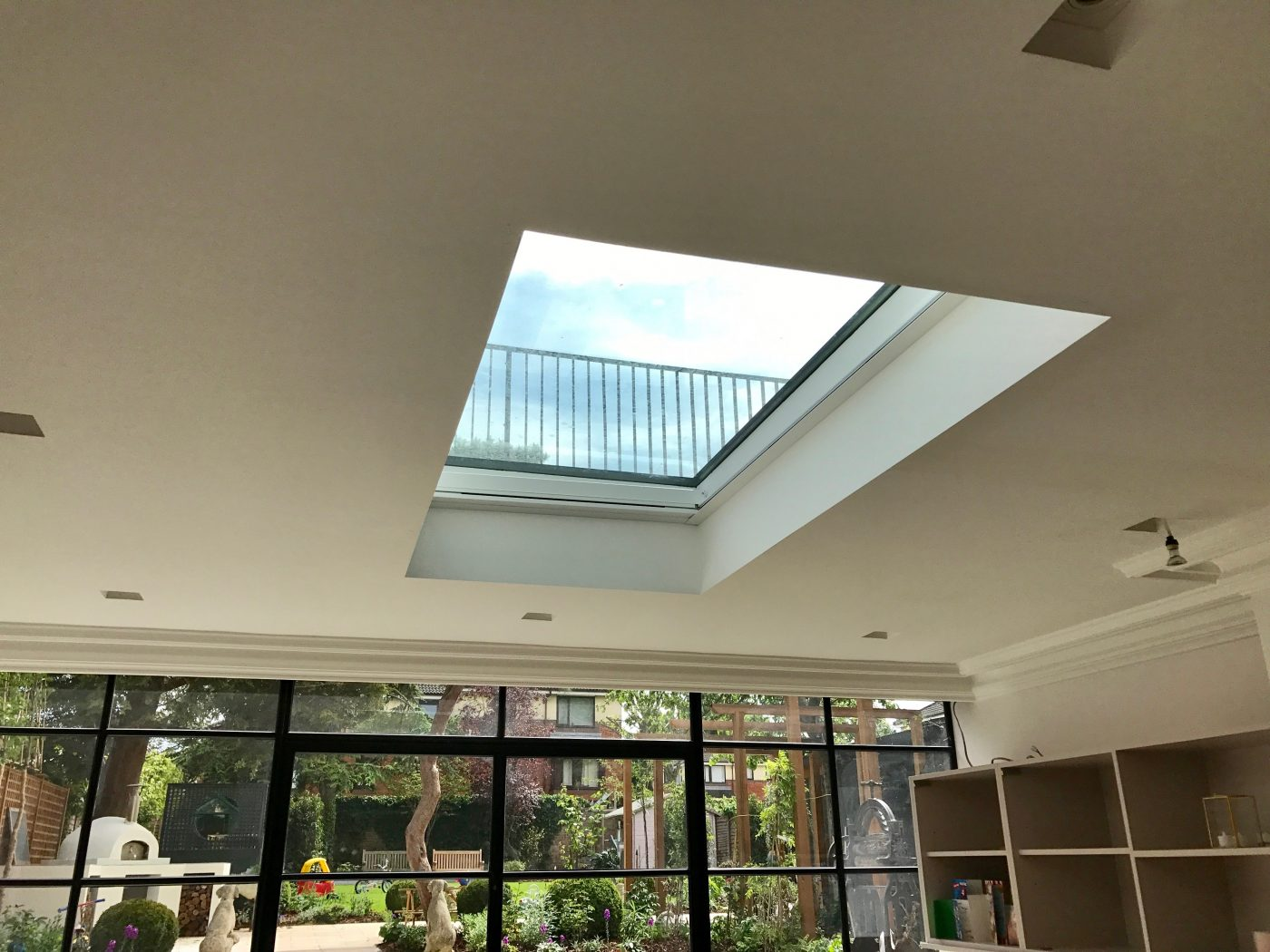 Electric Roof Lantern Blind Fitted In London The