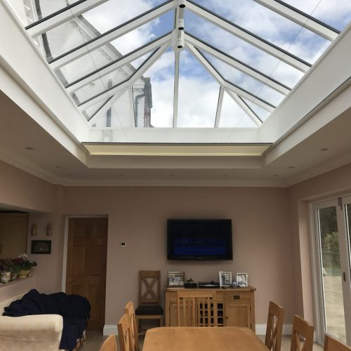 5 Metre Electric Roof Lantern Blind - Orangery - Electric Blind Company