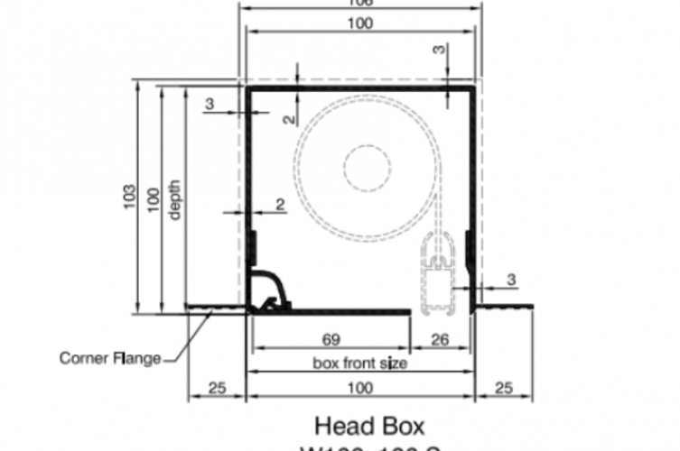Blindspace Boxes - Technical Drawing Head Box - The Electric Blind Company