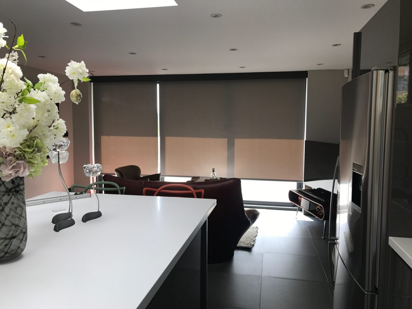Electric Blinds for Bi-Fold Doors - 3 Panels - The Electric Blind Company