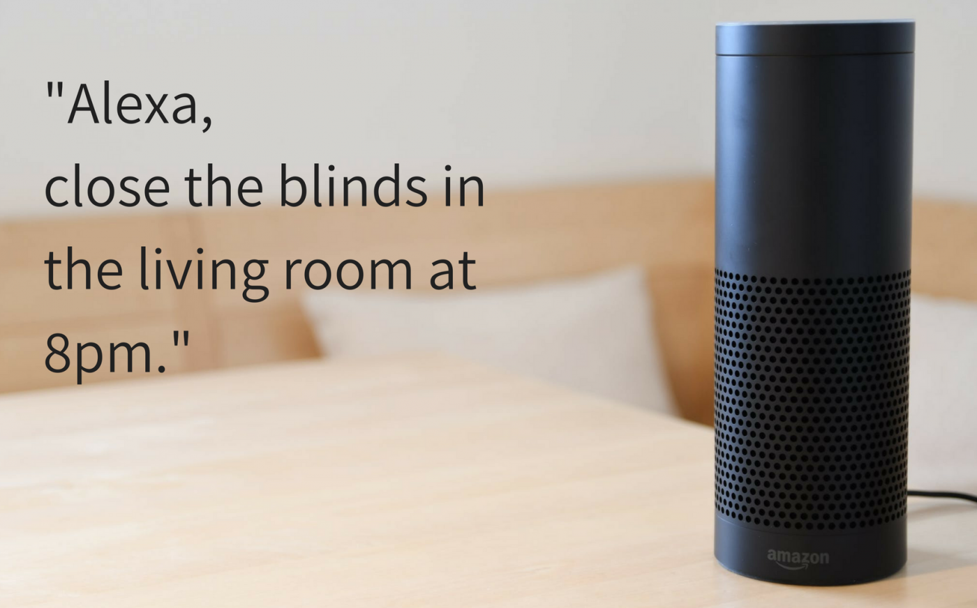 Amazon Alexa Electric Blinds - The Electric Blind Company Qmotion