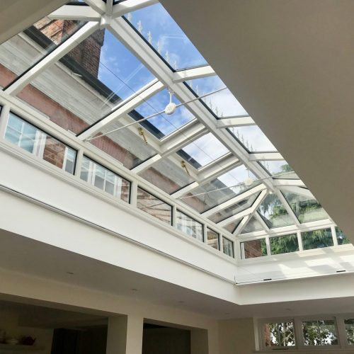 Roof Lantern Electric Blind Fitted in Winchester by The Electric Blind Company