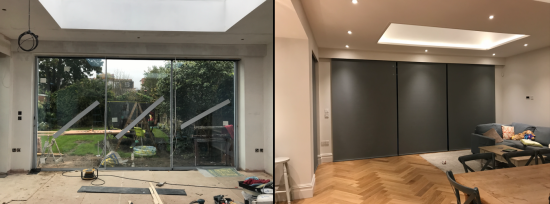 Before and After Electric Roller Blinds Fitted in Teddington London (1)