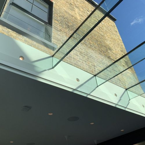 Electric SHY Roof Blind Fitted in Clapham, London by The Electric Blind Company