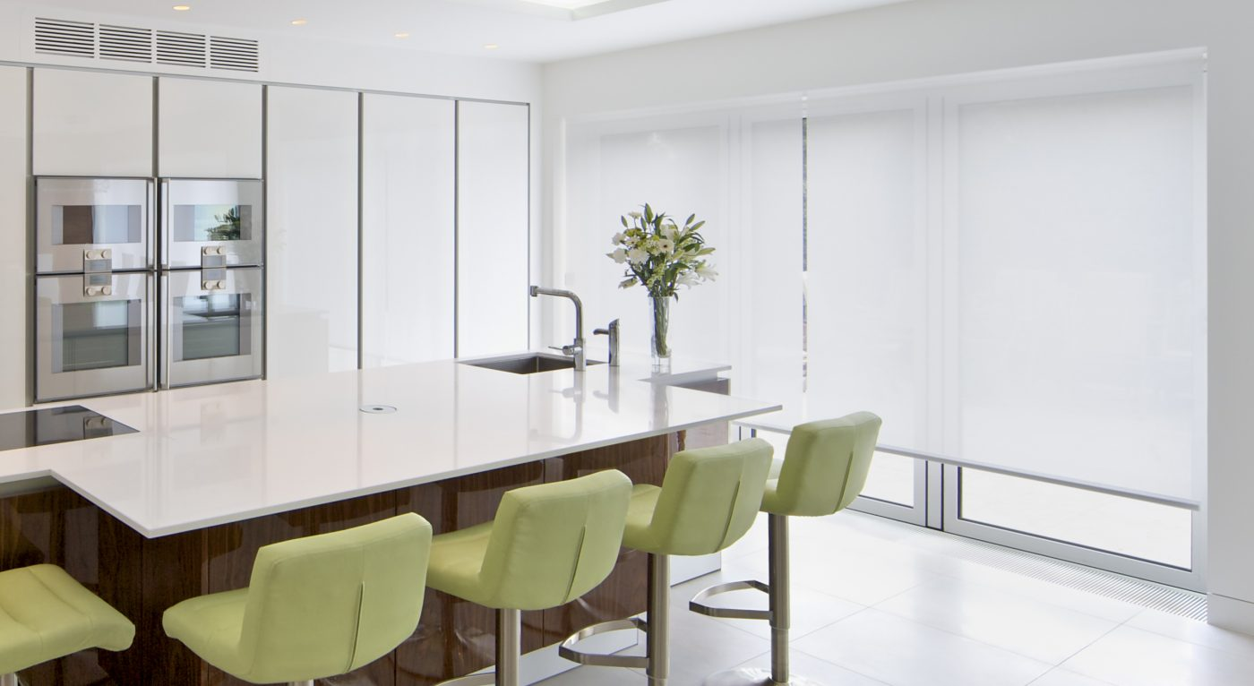 Hardwired Electric Blinds - Roller Blinds - Kitchen - The Electric Blind Company copy