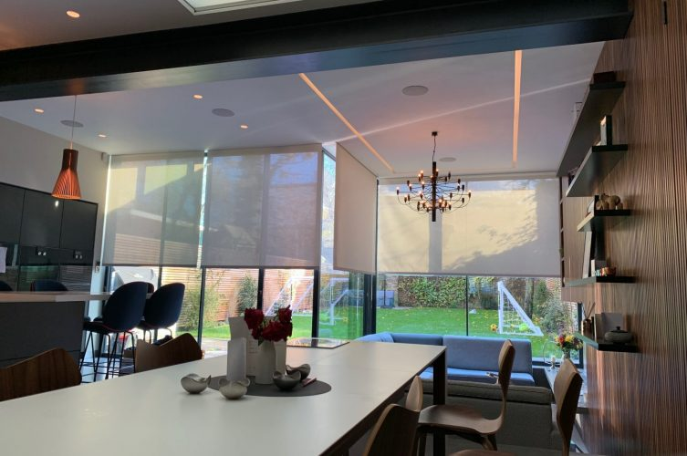 Hardwired Electric Roller Blinds Fitted in Clapham, London by The Electric Blind Company