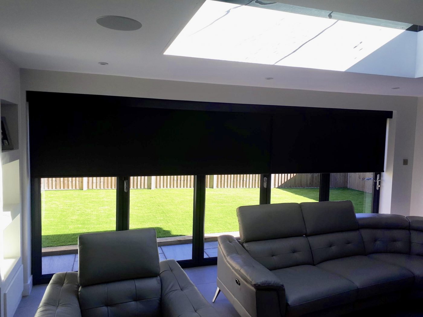 Electric Blinds For 5 Panel BiFold Doors - Fitted in Yately By The Electric Blind Company