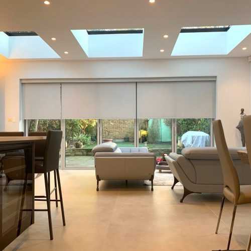 Electric Alexa Blinds For Bifold Doors - Kitchen Diner - The Electric Blind Company copy