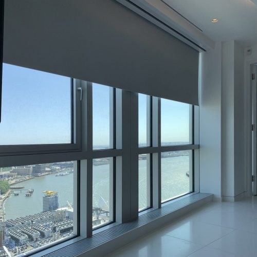 Concealed Motorised Blinds Installed by The Electric Blind Company At Canary Wharf London2