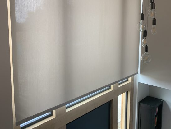 Screen Fabric Electric Roller Blinds Fitted in New Forest Hampshire by The Electric Blind Company