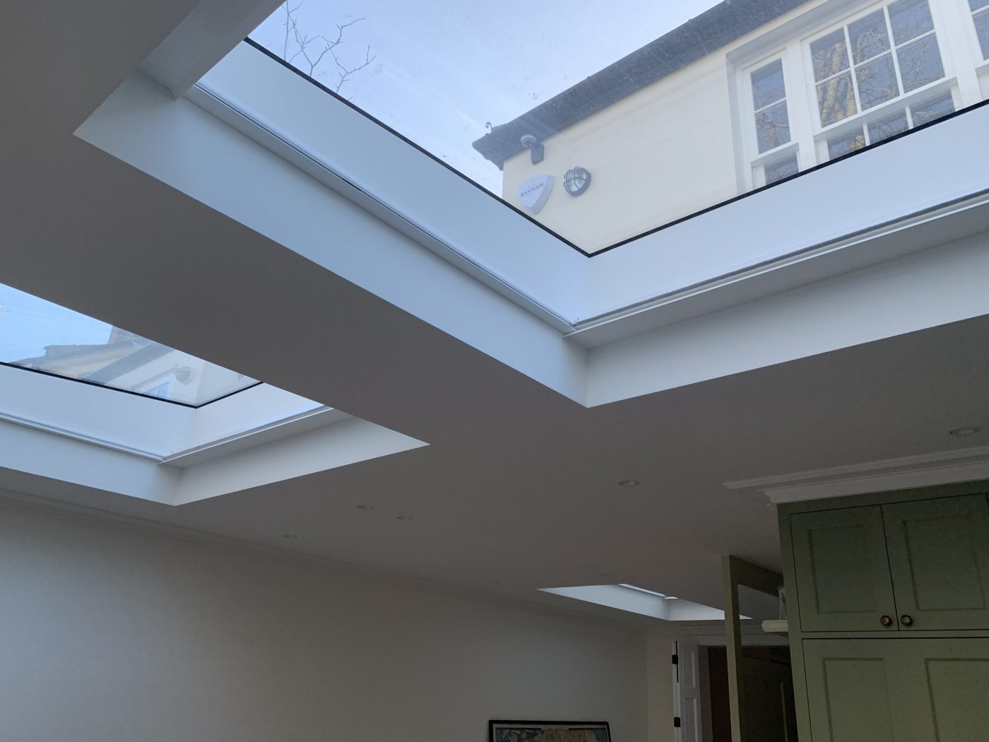 Twin Motorised Roof Blinds Fitted in Notting Hill - The Electric Blind Company
