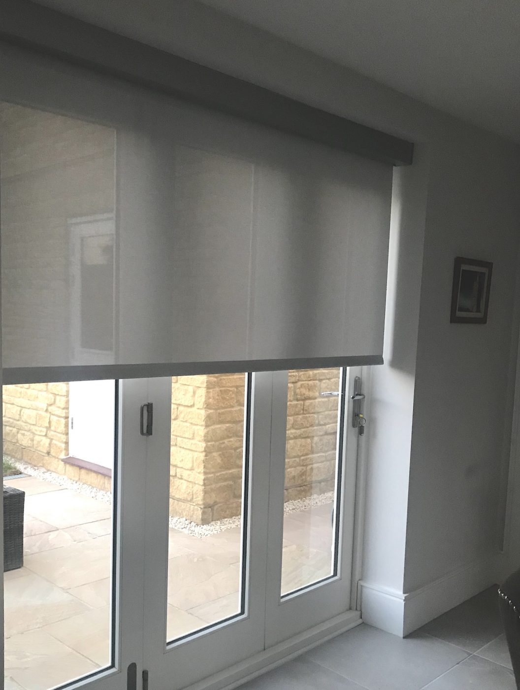 Bifold Door Battery Blinds Fitted in the Cotswolds by The Electric Blind Company