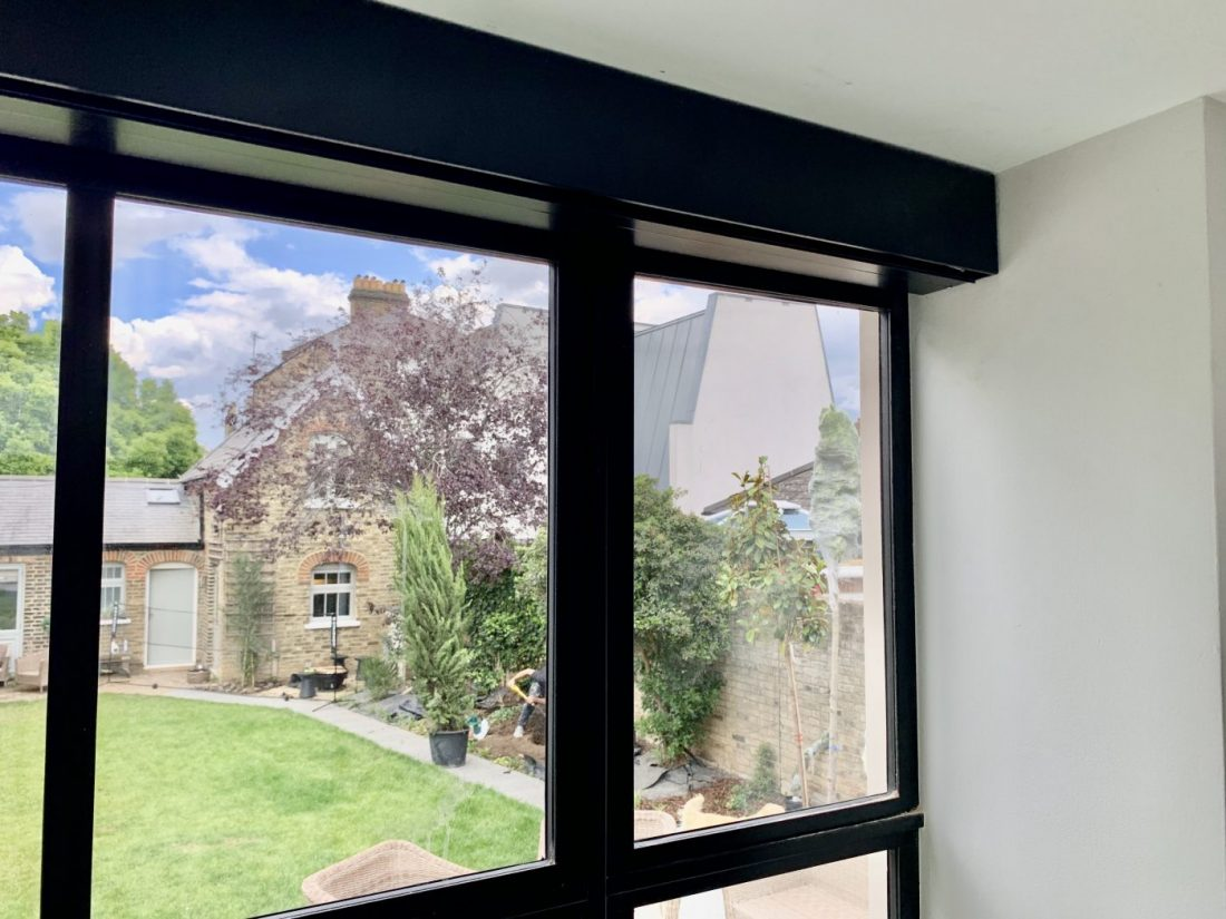 Electric Blinds For Crittall Fascia - Windows Fitted in London by The Electric Blind Company.