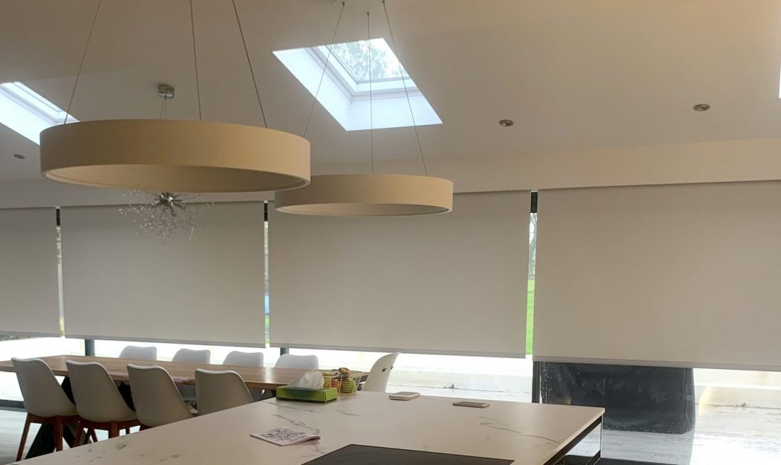 Electric Blinds Part open - Fitted in Hampshire - The Electric Blind Company
