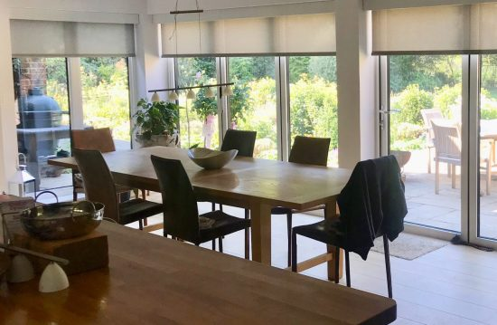 Electric Blinds for Bifold Doors - Surrey - The Electric Blind Company