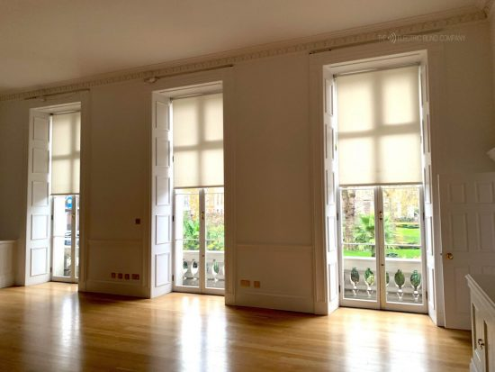 Battery Roller Blinds Fitted In London by The Electric Blind Company