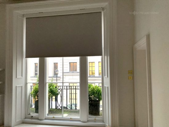 Blackout Battery Roller Blinds Fitted In London by The Electric Blind Company
