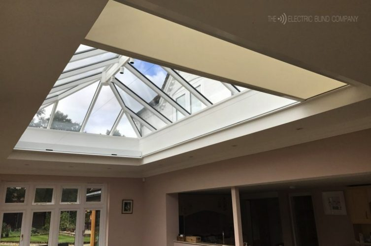 5 Metre Electric Roof Lantern Blind Orangery The Electric Blind Company