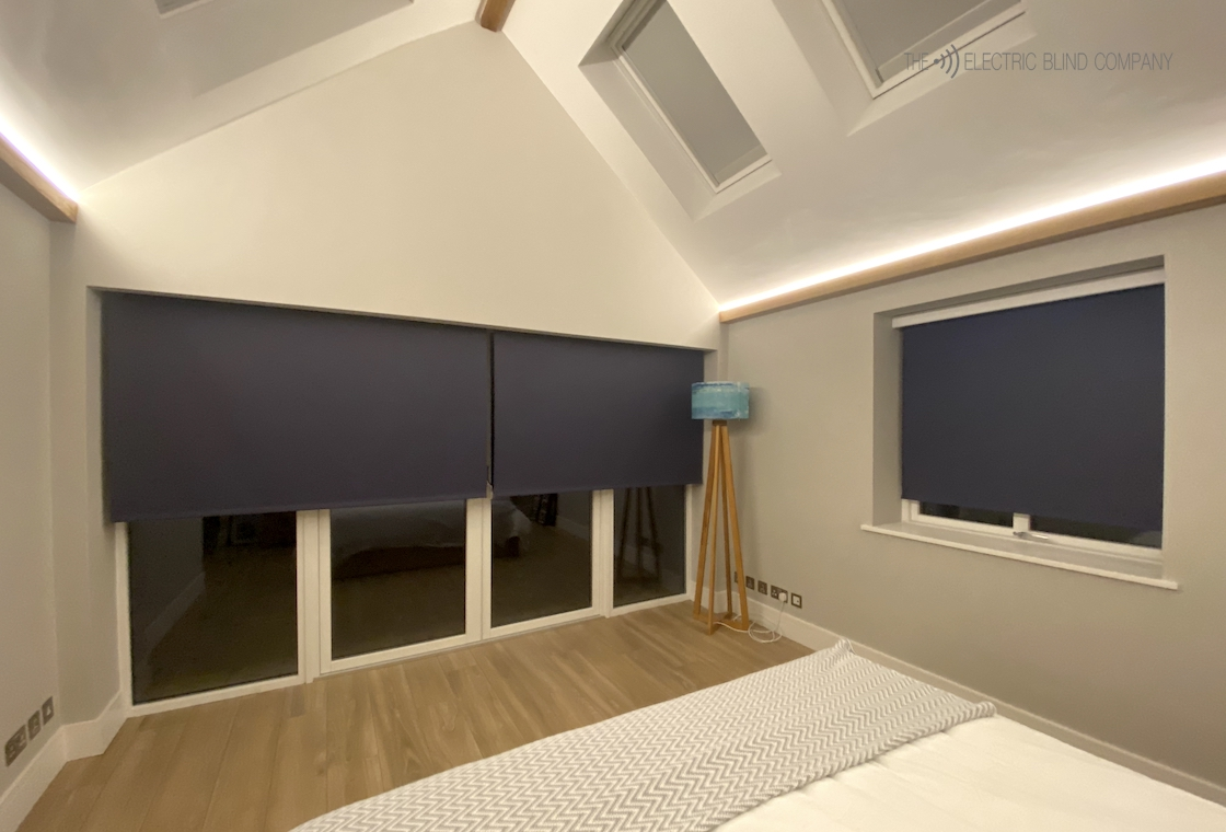 Blindspace Pocket - Bedroom Electric Blinds in Blue - The Electric Blind Company