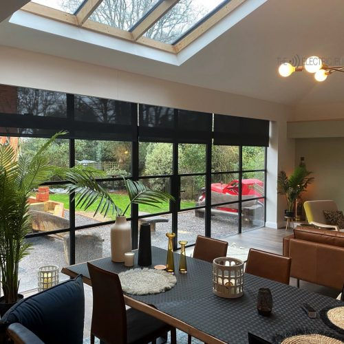 Electric Roller Blinds for Crittall Windows - Semi-Transparent - Crittal Windows - The Electric Blind Company