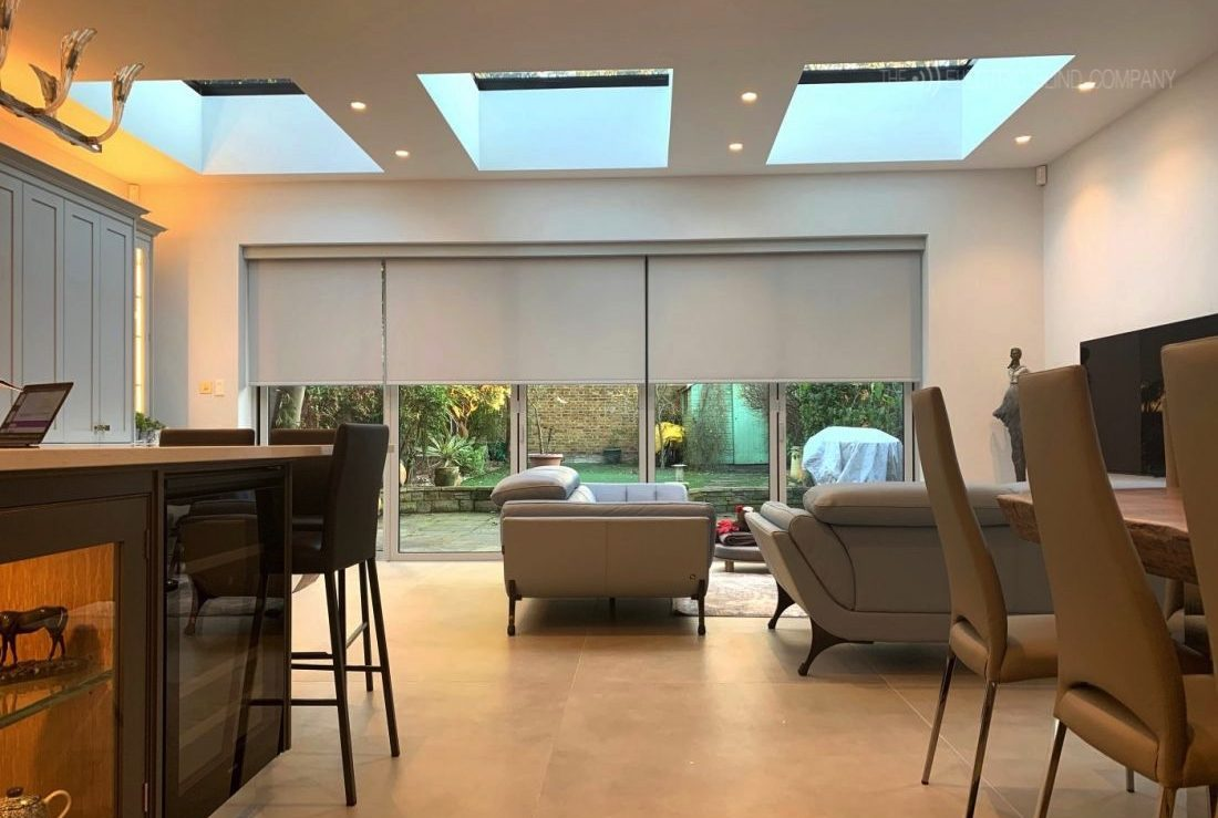 Electric-Blinds-For-Bifold-Doors-Kitchen-Diner-The-Electric-Blind-Company