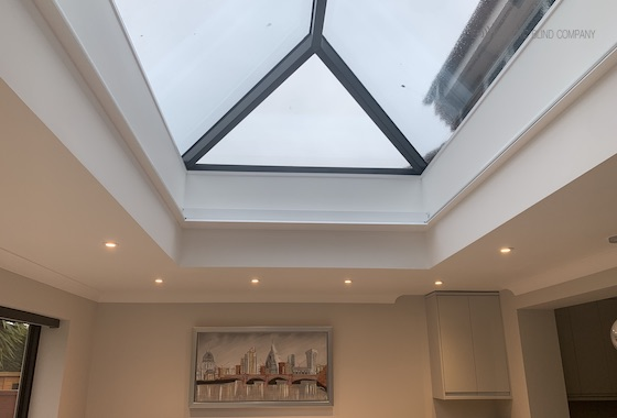 Large Roof Lantern Motorised Blinds - The Electric Blind Company