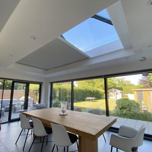 Roof Lantern Electric Blind in Orangery - The Electric Blind Company