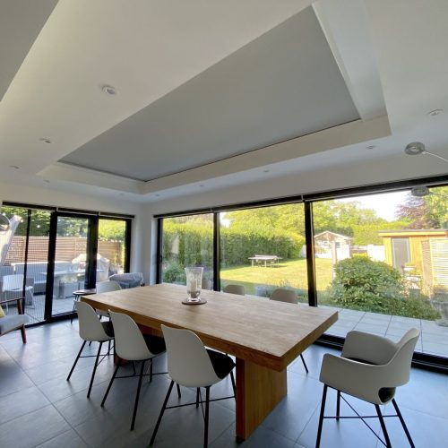 Roof Lantern Electric Blind in Orangery - White - The Electric Blind Company