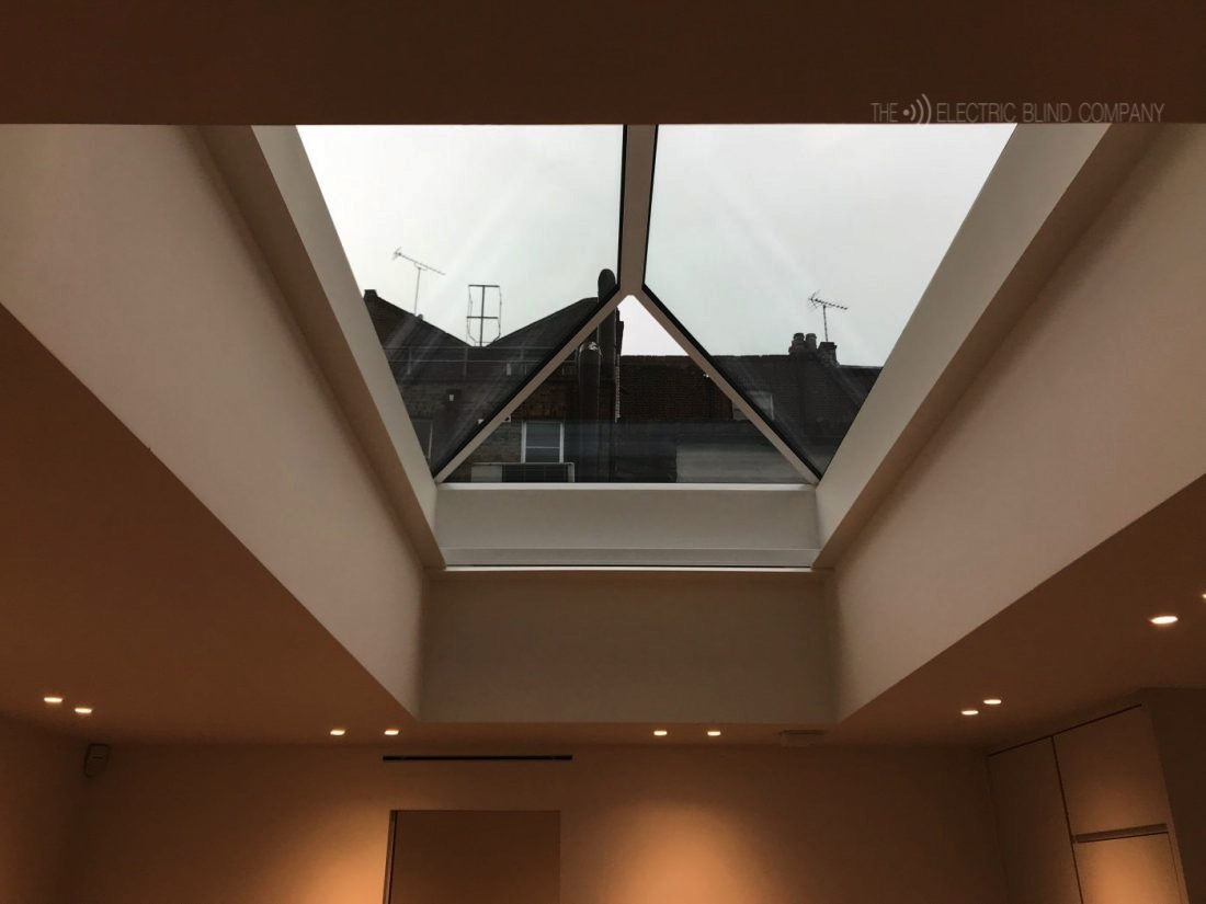 Roof Lantern Electric Blinds Fitted in Marylebone London Open The Electric Blind Company