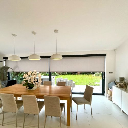 White Battery Electric Blinds - The Electric Blind Company