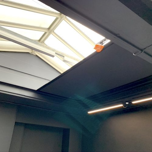Commercial Electric Roof Blinds - Art Gallery - Fitted by The Electric Blind Company