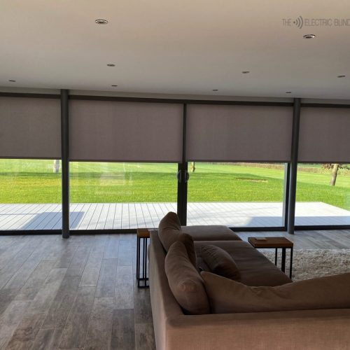 Electric Blinds Fitted in Oxford by The Electric Blind Company_Living Room Sliding Doors
