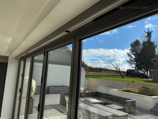 Electric Blinds Fitted in Oxford by The Electric Blind Company_Overlooking Patio