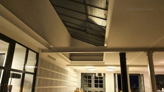 Met Wharf Electric Roof Blinds - Commercial Blinds - Fitted by The Electric Blind Company