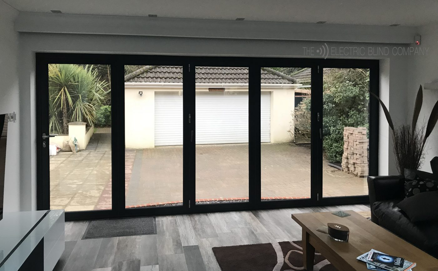 Hardwired Bifold Electric Roller Blinds Fitted in Ringwood
