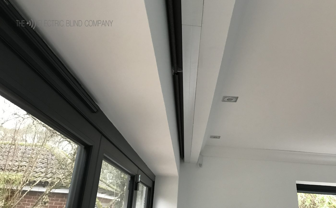 Hardwired Pocket Electric Roller Blinds Fitted in Ringwood